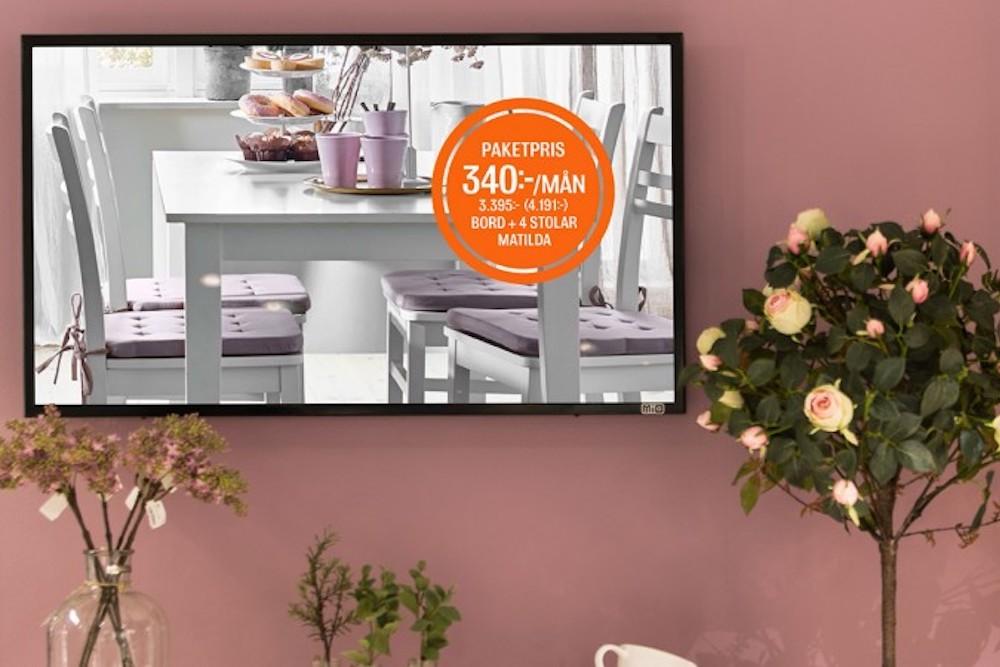 Digital Signage im Handel – Screen bei einem Kunden von Zeta Display (Foto: Zeta Display)
