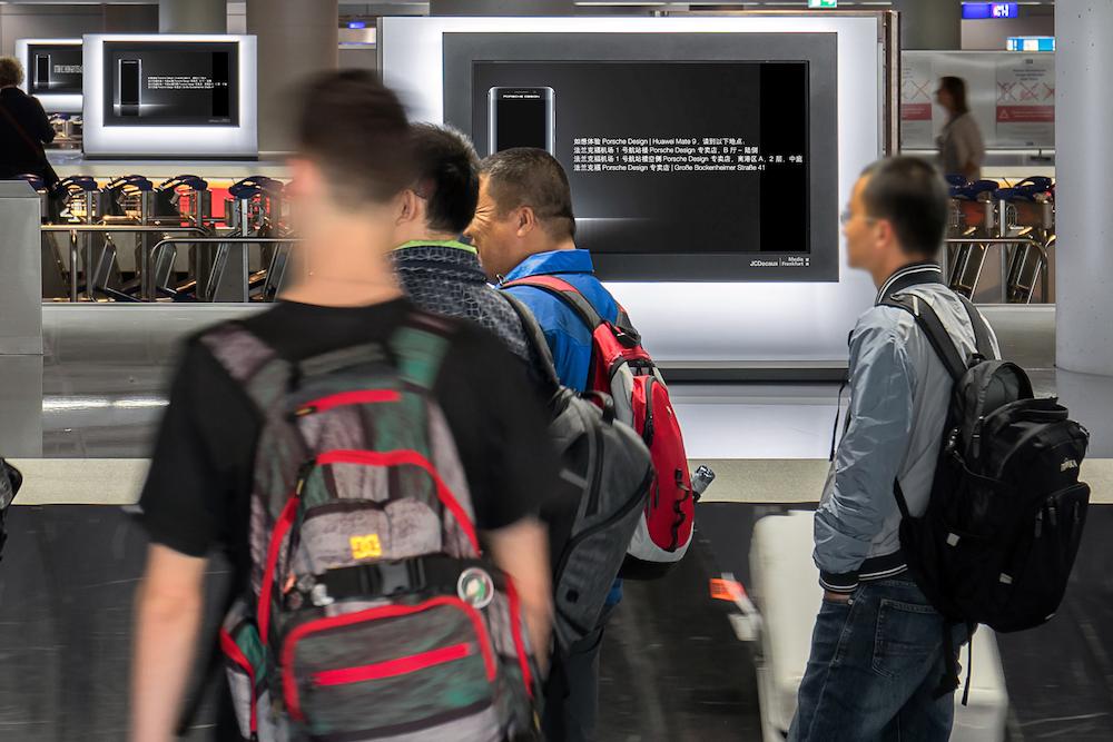 Dynamische DooH Kampagnen werden nun auch in der deutschen Airportwerbung eingesetzt (Foto: Media Frankfurt)