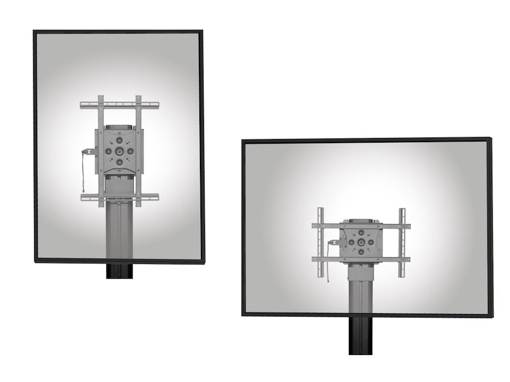 In 15-Grad-Schritten können die Displays mit den Halterungen positioniert werden (Fotos: Peerless-AV)