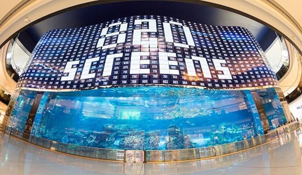 Insgesamt 820 Screens wurden für die Konstruktion benötigt (Foto: LG)
