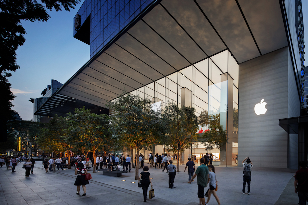 Apple Store in Singapur an der Orchard Road (Foto: Apple)