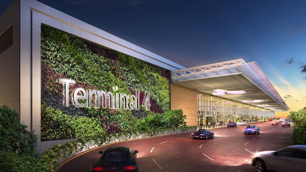 Aussenansicht des Terminals (Foto / Rendering: Changi Airport Group)