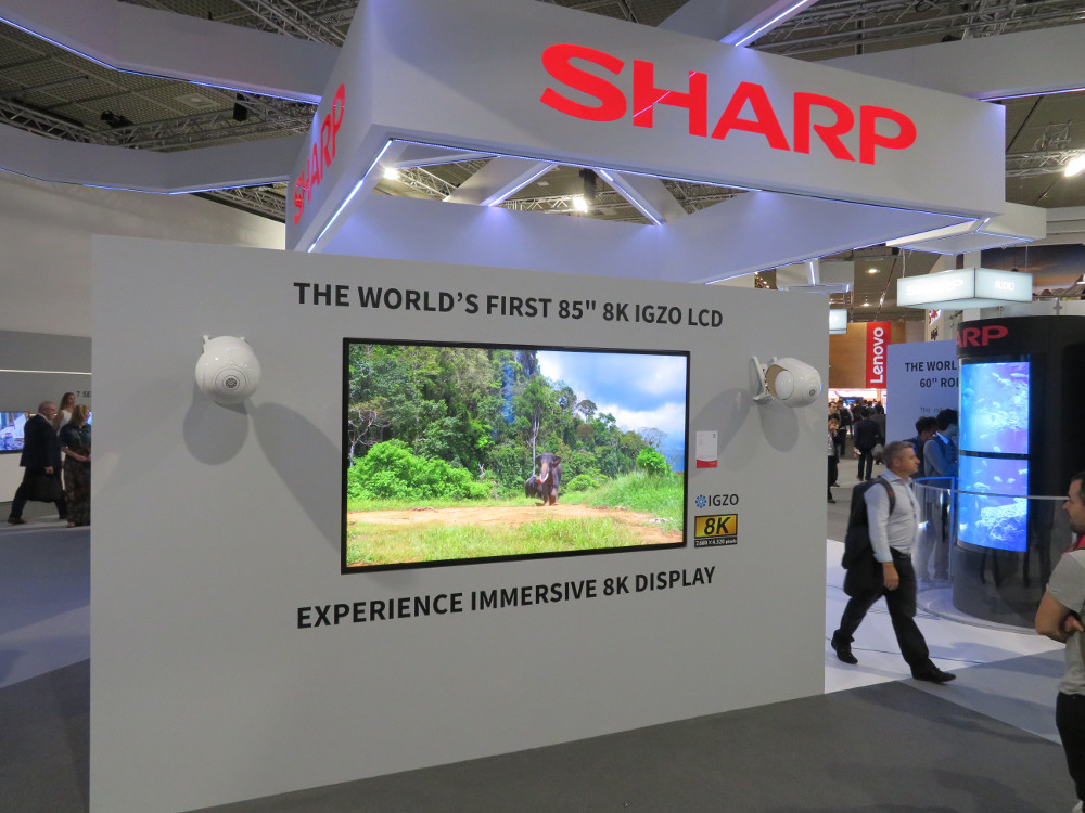 Digital Signage IFA Sharp 8k (Foto: invidis)