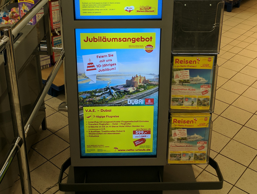 Netto Markendiscount Digital Signage (Foto: invidis)