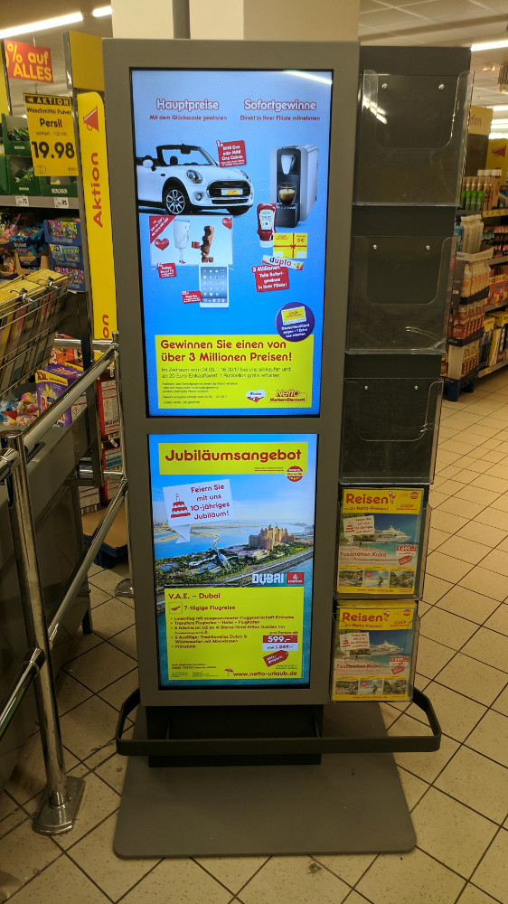 Digital Signage Netto Markendiscount (Foto: invidis)