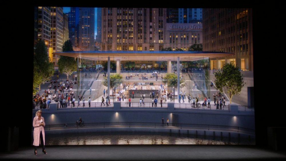 Neuer Apple Store in Chicago (Screenshot Apple)