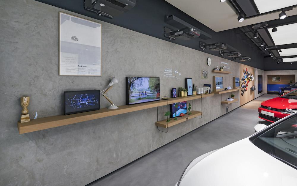 Digital Wall mit Projektoren, Markern und Screens (Foto: Dalziel & Pow)