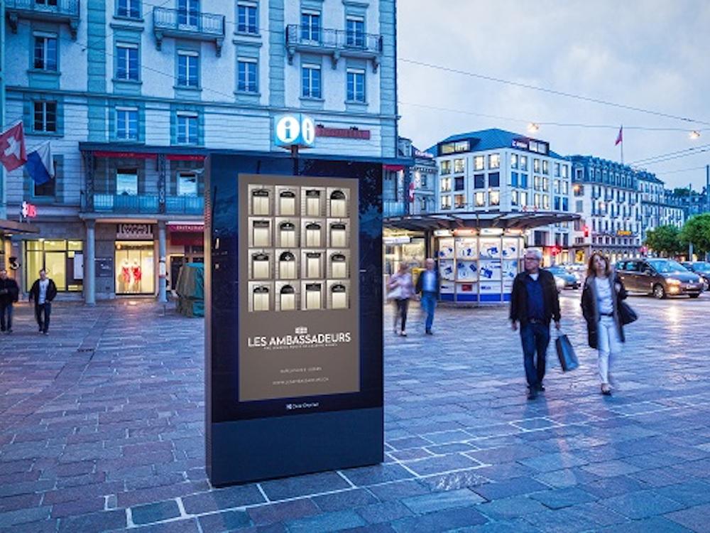 DooH-Kampagne am Luzerner Kappeler Platz (Foto: Clear Channel)