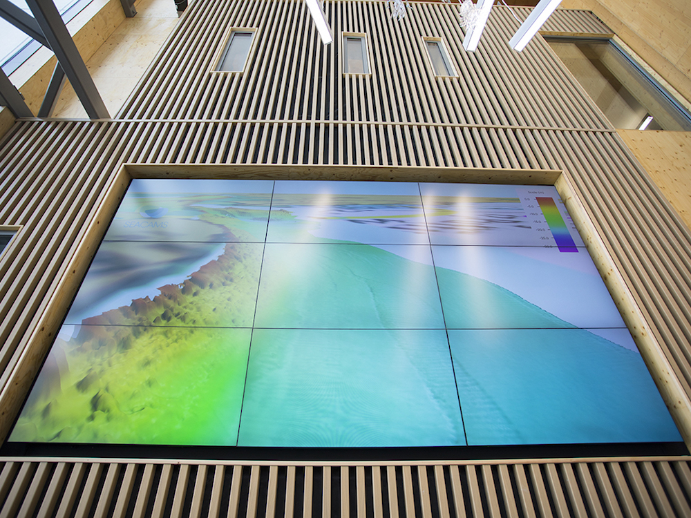 Forschungsergebnisse werden im Marine Centre spannend inszeniert (Foto: Peerless-AV)
