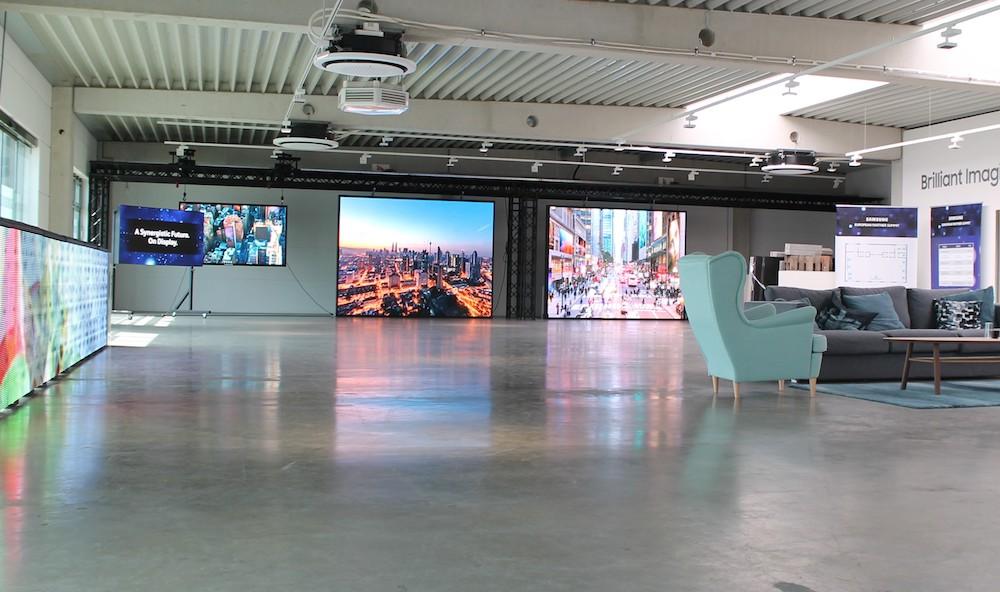 LED Signage ist einer der Schwerpunkte in der Ausstellung (Foto: Samsung)