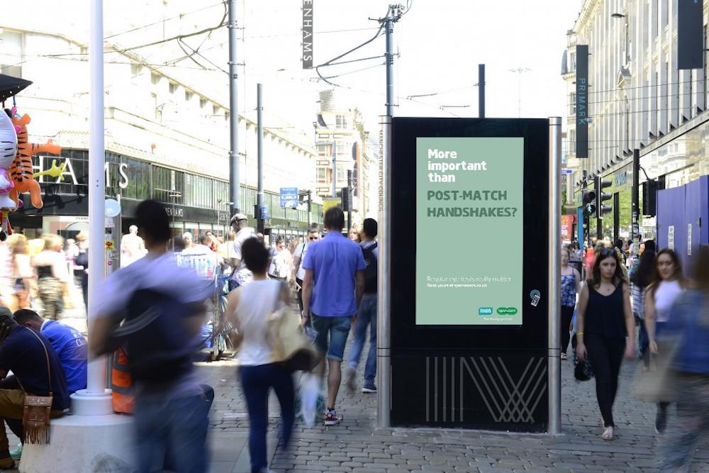 Manchester ist eine der Städte in denen die Kampgne derzeit in DooH läuft (Foto: Grand Visual)