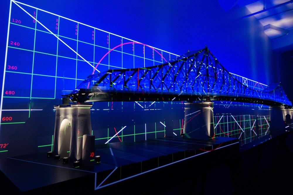 Modell der Jacques Cartier Bridge während der Planungsphase (Foto: Moment Factory)