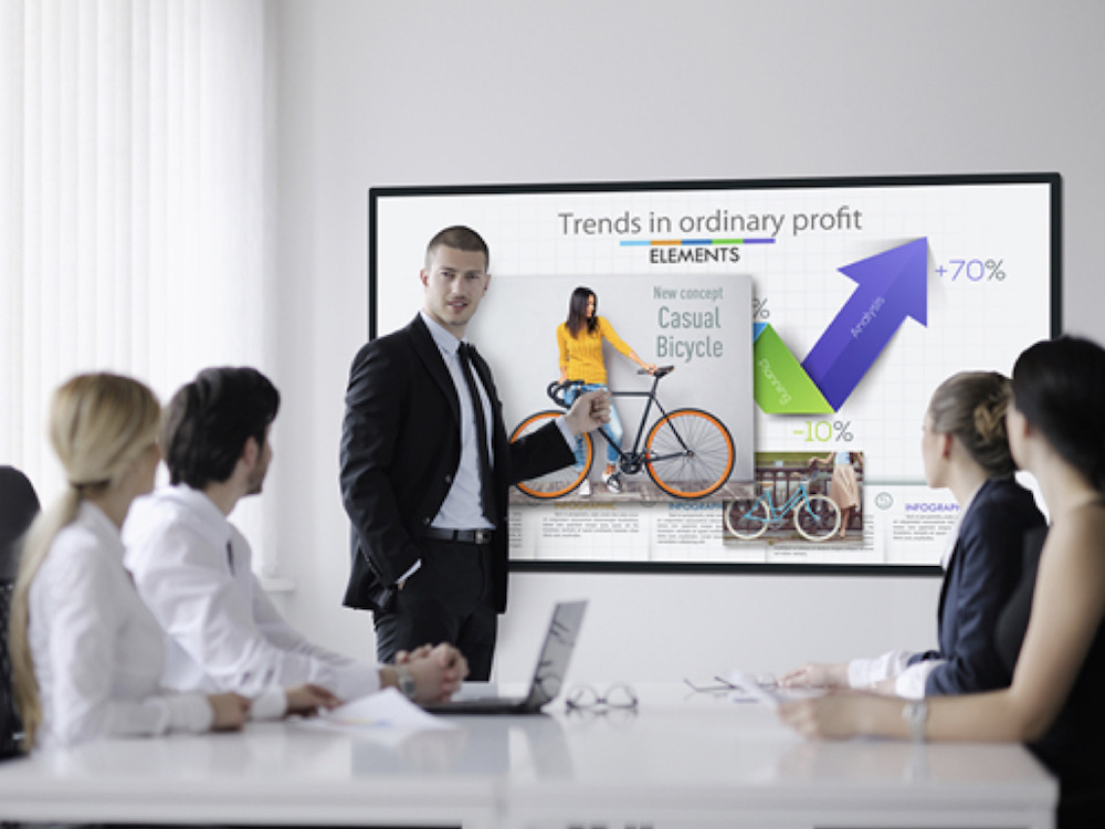 Neues interaktives Whiteboard TH-75BQE1 (Foto: Panasonic)
