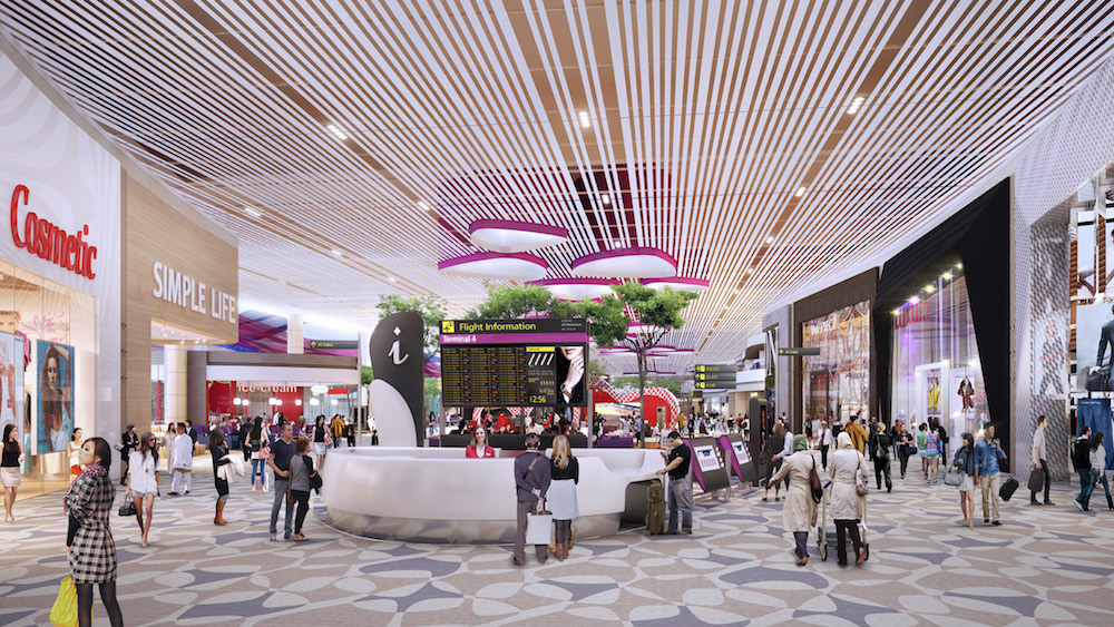 Retail-Bereich im T4 (Foto / Rendering: Changi Airport Group)