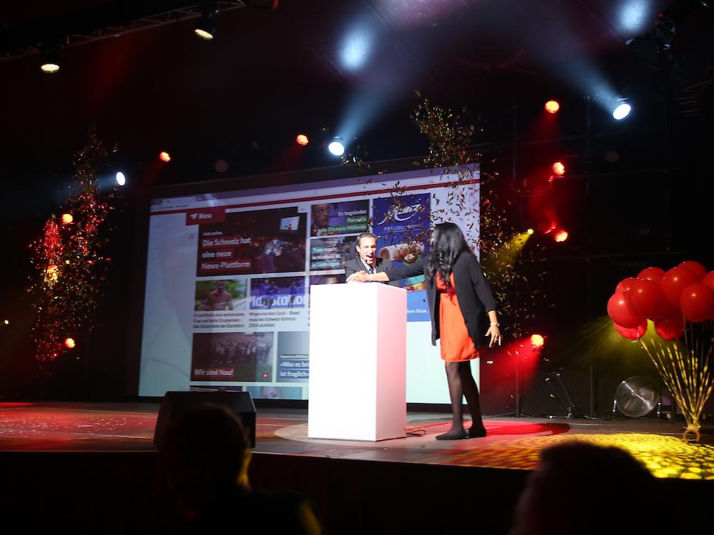 Nau-CEO Yves Kilchenmann gibt den Startschuss für Nau (Foto: Livesystems)