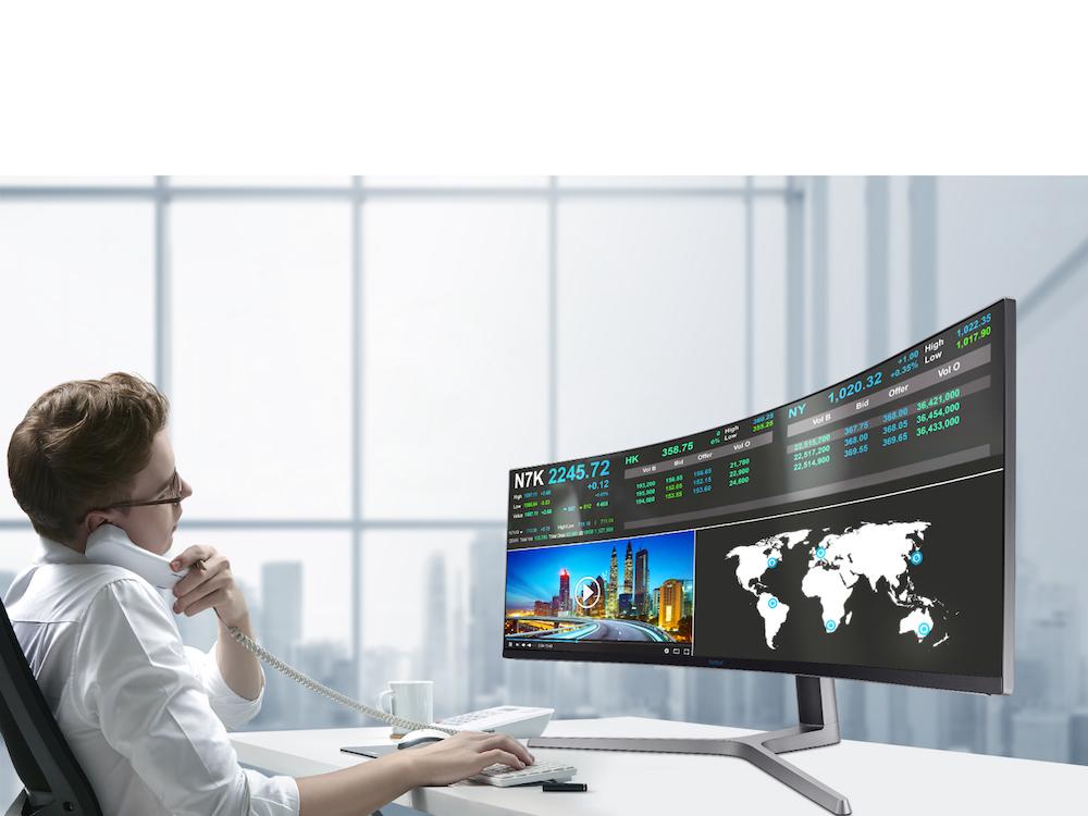 CHG90 im Business-Einsatz (Foto. Samsung)