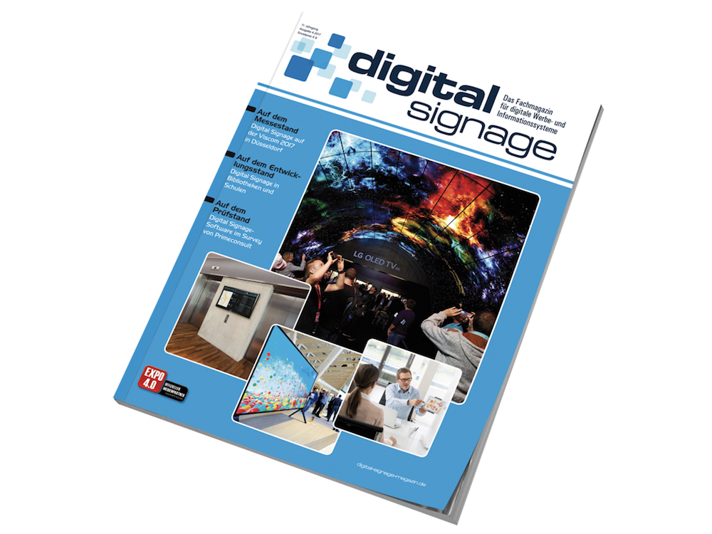 "Cover der aktuellen ""digital signage"" (Foto: WNP Verlag)"