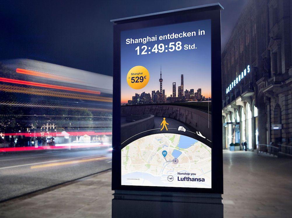 Die neue Kampagne der Lufthansa nutzt Daten aus mehreren Quellen (Foto: Kolle Rebbe)