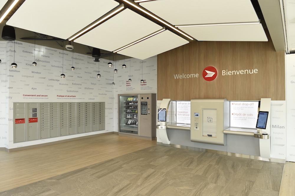 Im Eingangsbereich sind 24/7 Services nutzbar (Foto: Canada Post)