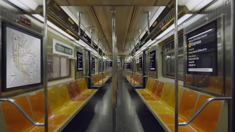 In den Zügen werden ebenfalls zehntausende Screens installiert (Foto / Rendering: Metropolitan Transportation Authority)