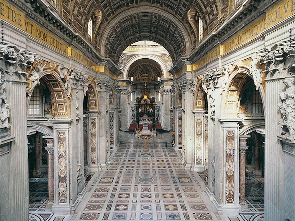 Innenansicht des Petersdoms (Foto: Vatikan)