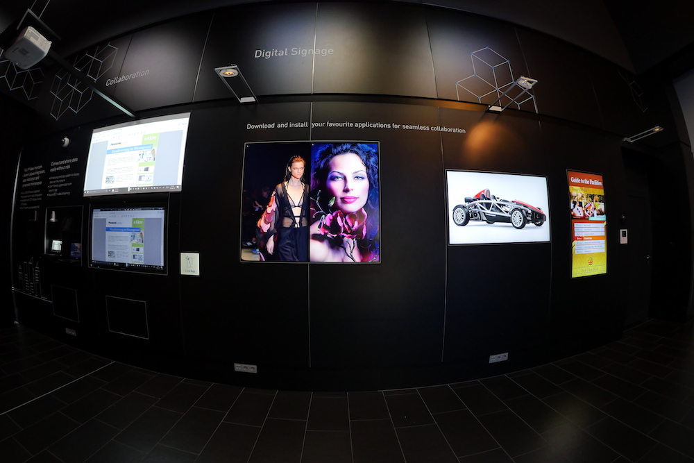 Intelligentes und interaktives Digital Signage (Foto: Panasonic)
