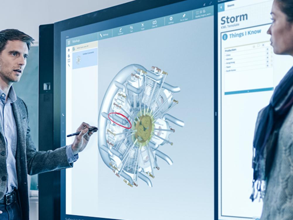 Konferenzraumlösung Microsoft Surface Hub – Cygates DS-Business und das Geschäft mit Conferencing gehen an MultiQ (Foto: Cygate)