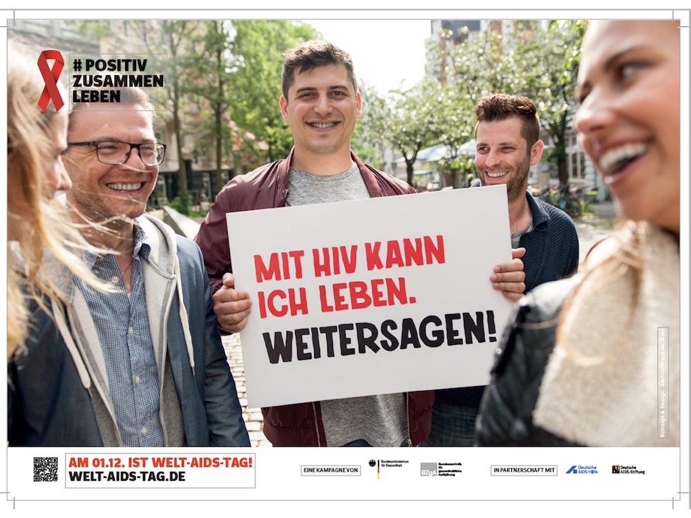 Motiv der aktuellen HIV-Kampagne zum Welt-Aids-Tag (Foto: BZgA)