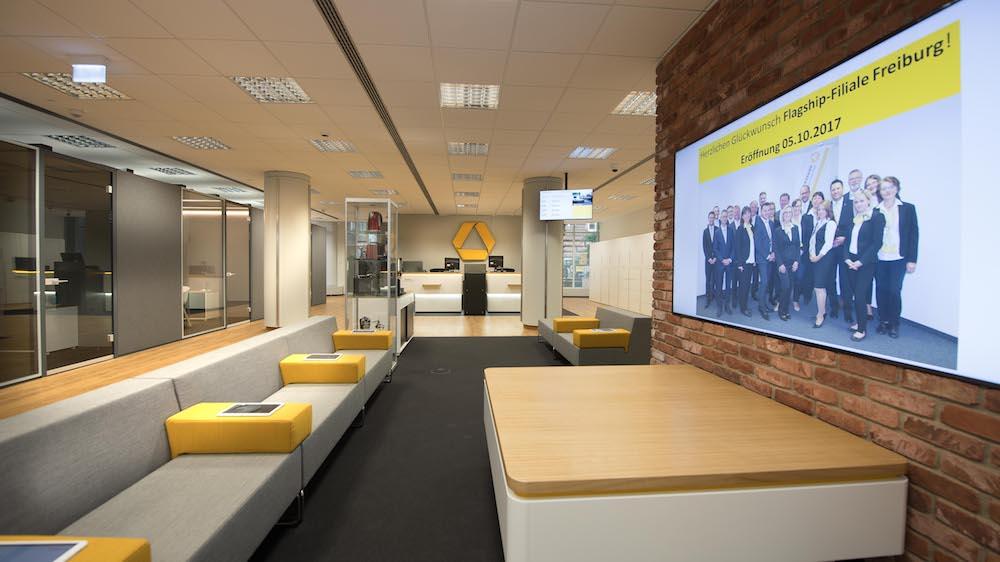 Neue, im Herbst 2017 eröffnete Flagship-Filiale der Commerzbank in Freiburg im Breisgau (Foto: Commerzbank)