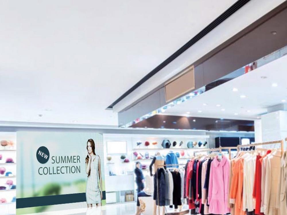 Retail Szenario mit A27-Modulen (Foto: Absen)