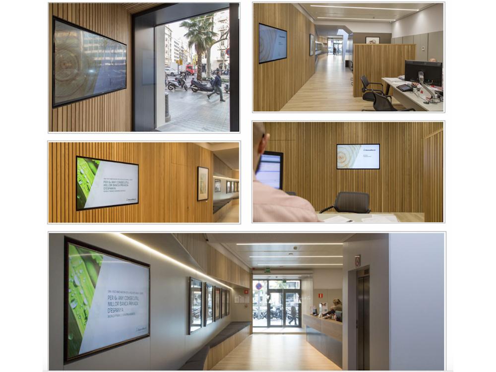 Seit dem Marken-Relaunch digitalisiert Banca March die Filialen (Fotos: Netipbox)