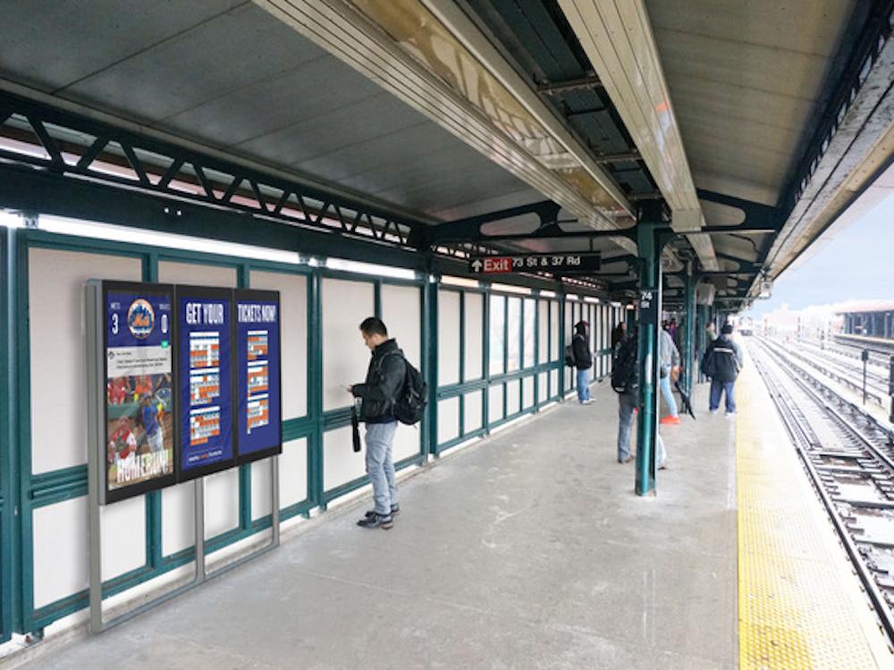 So sollen die Screens auf dem Bahnsteig aussehen (Foto / Rendering: Metropolitan Transportation Authority)