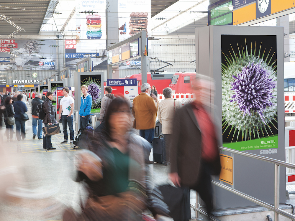 Station Video Screen am Hauptbahnhof in Muenchen (Foto: Infoscreen / Ströer)