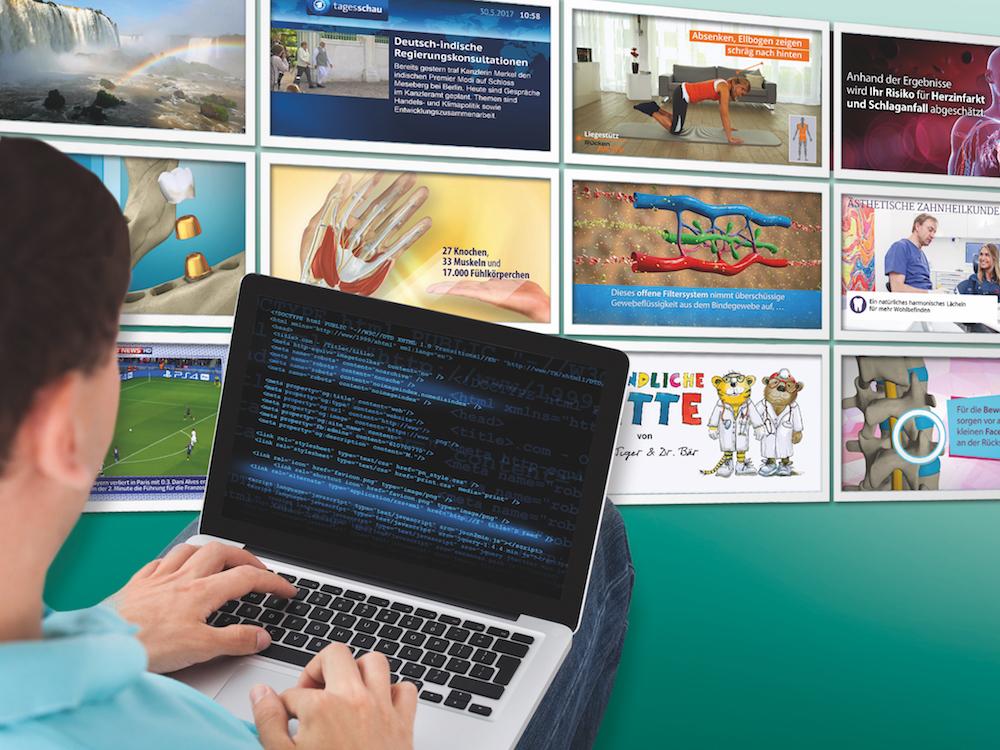 TV-Wartezimmer nutzt nun eine neue und mächtige Player-Software (Foto: TV-Wartezimmer)