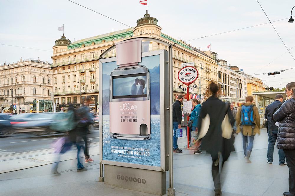 Umsetzung der Kampagne in Wien (Foto: WallDecaux)