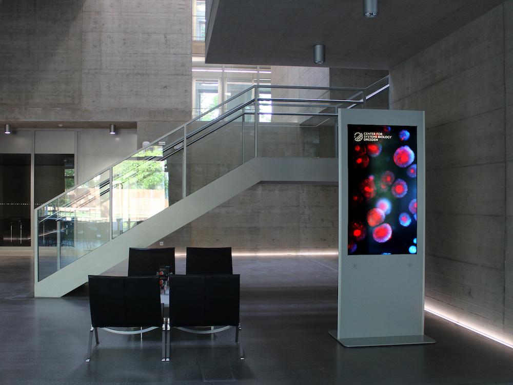 ekiosk-System bei einem Max-Planck-Institut in Dresden (Foto: ekiosk)