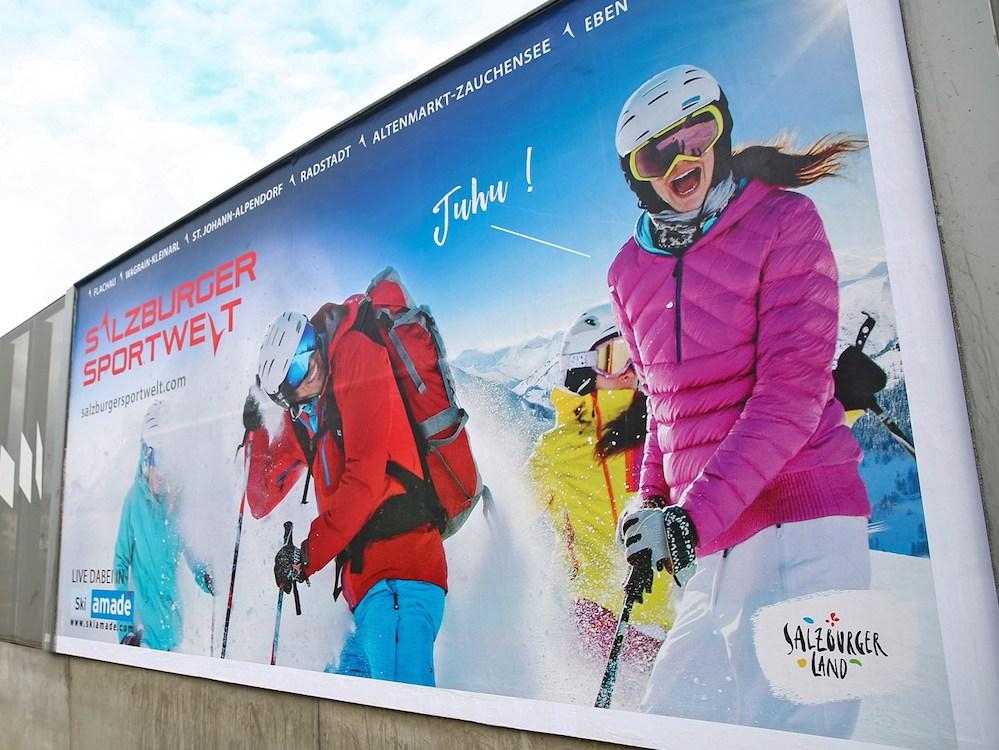 Aktuelle Out-of-Home-Kampagne der Salzburger Sportwelt (Foto: Epamedia)