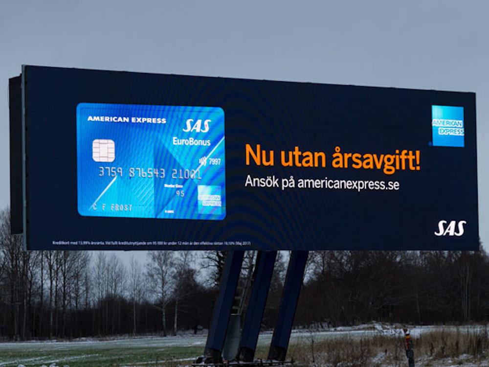 Die Twin Screens bieten 2 x 70 m2 Werbefläche (Foto: Atracta)