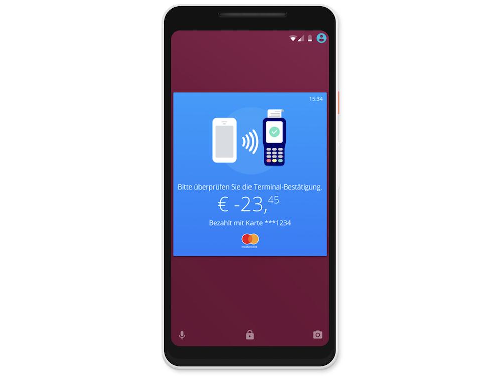 Digitale Kreditkarte am Smartphone (Grafik: Erste Bank)