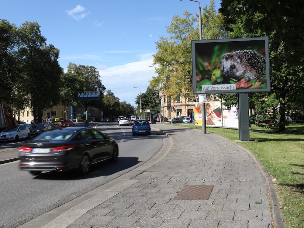 Digitale Stadtinformationsanlage von Ströer in Chemnitz (Foto: Ströer)