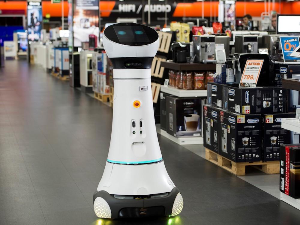 Für Saturn am PoS unterwegs – Roboter Paul (Foto: Saturn)