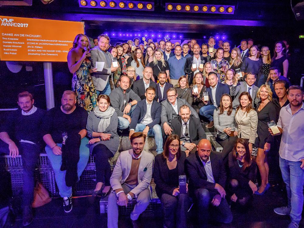 Gewinner des VAMP Award 2017 (Foto: Gewista)