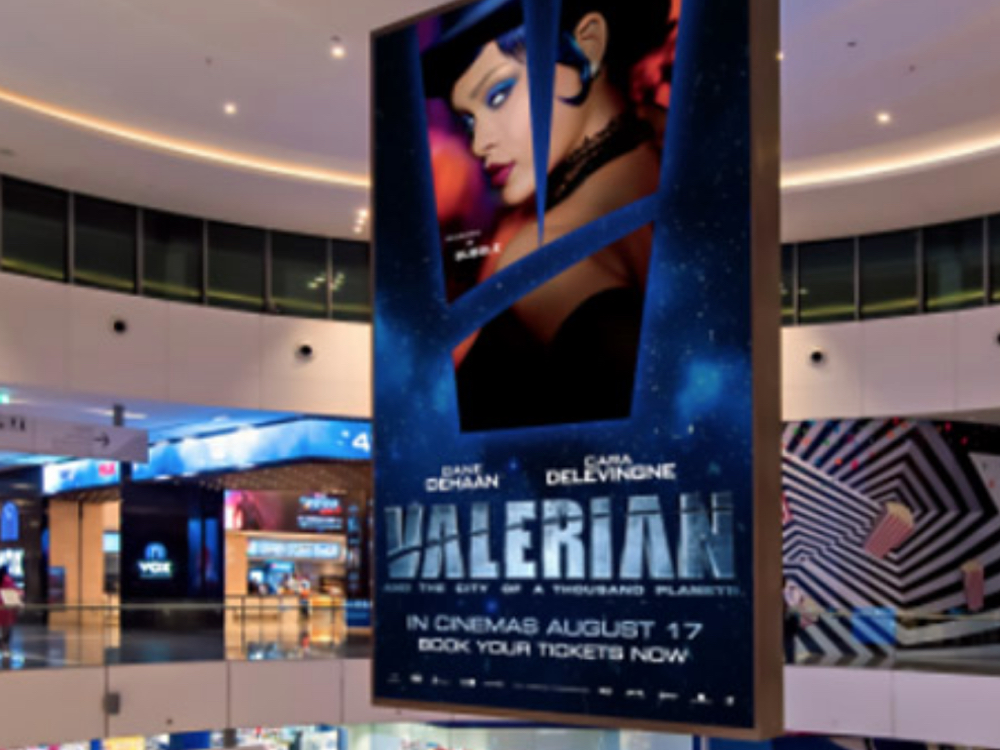 Screen in einer Shopping Mall in Qatar (Foto: BroadSign)