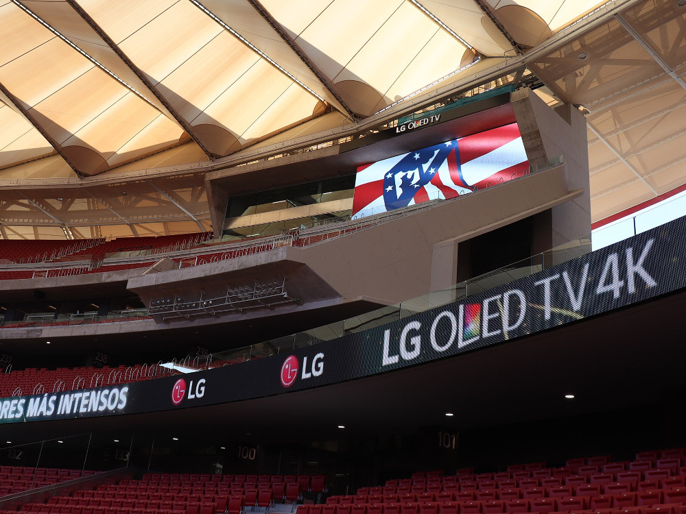 LG LED bei Atletico Madrid (Foto: invidis)
