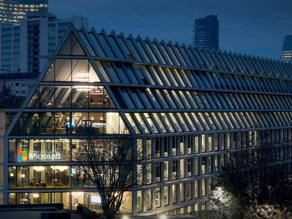 Das neue Microsoft House im Zantrumvon Mailand (Foto: Ayno)