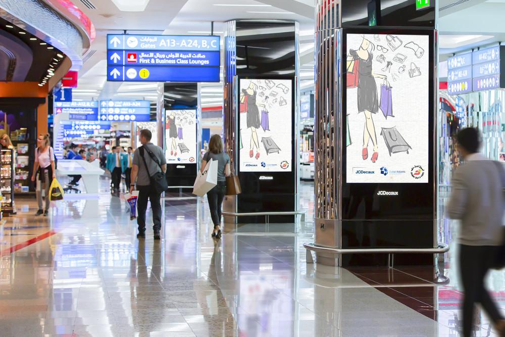 Decaux und Dubai Duty Free verschmelzen DooH und PoS Vermarktung (Foto. JCDecaux)