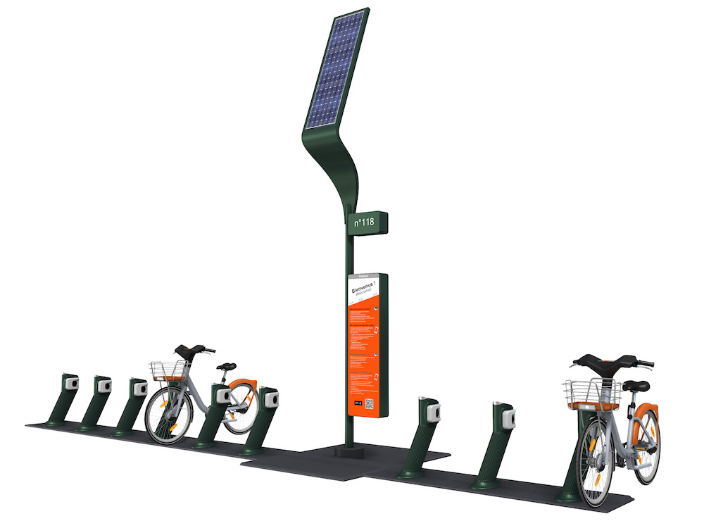 Geplante smarte Fahrrad-Station(Foto / Rendering: JCDecaux)
