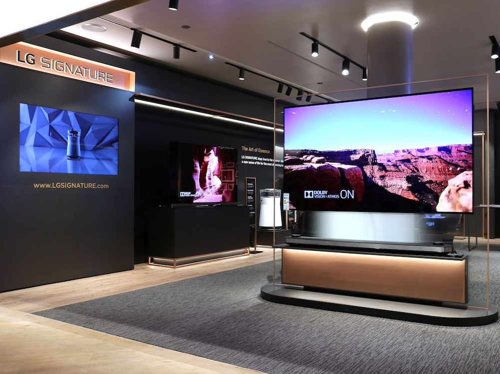 Im Oberpollinger hat LG Signature nun einen prominenten Platz (Foto: LG)