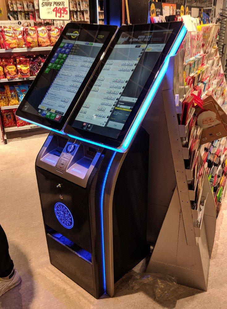 Cashpoint Bet Book in einem Kiosk in Dänemark (Foto: invidis)