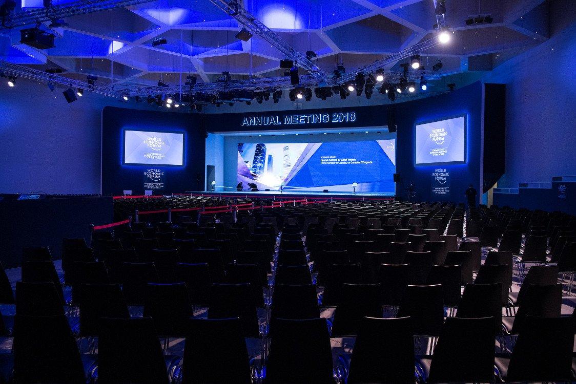 Der Plenarsaal - Bühne der Welt für ein paar Tage (Foto. WEF)
